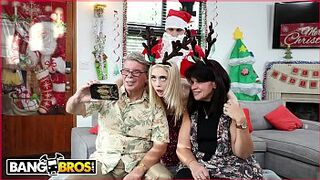 videos bang bros - Small Size Young Lady Platinium Anastasia Knight Screwed By Dirty Santa Claus!