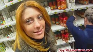 Ginger honey pickedup and humped in pov