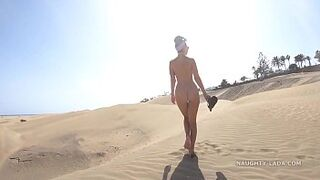 Left the beach without clothes... (Public Space nudity)
