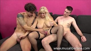 Porn Casting - Menage A Trois with two juvenile candidates by Musa Libertina