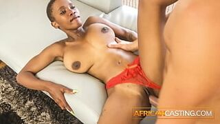 Pretty Dark Skin Appealing Shows her Sloppy Oral Skills For 2nd Casting