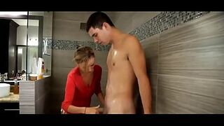 Prestine Edge in Milf Helps Out Son in the Shower