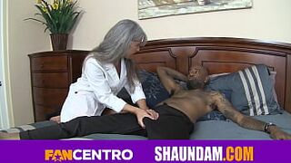 SHAUNDAM HUGE SABLE DICK STRETCHES OUT HIS PETITE TINY DOCTOR LEILANI LEI