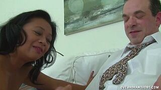 Asian Mommy Masseuse Man Meat Treatment