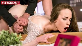 LETSDOEIT - Russian Girl Angel Rush Fucks With Her Older BF While He Speaks At The Phone During Intercourse