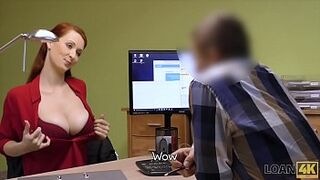 LOAN4K. Hypnotizing tits for credit manager