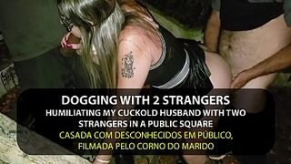 Dogging - Naughty Female Fucking by strangers in the park in front of cuckold - English subtitles - Sexxx-Porno