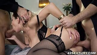 Exlusive lingerie on Siya Jey earns a Menage a Trois