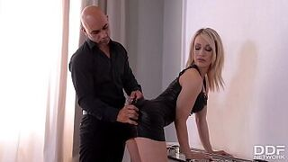 Spanking action and total submission make Chessie Kay's giant curvy bobbies sway