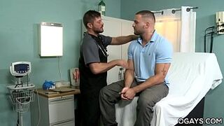 Hairy cock lover fellas bang in the hospital