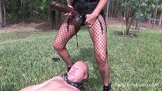 CUCKOLD HUSBAND GETS PEGGED and PISSED on plus clip  HOE GETS DOMMED  #cuck #lesbian #pee #pegged