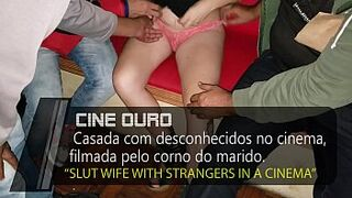 Escort Matron with strangers in a movie theater, the cuckold recordes while is humiliated by her - Cristina Almeida