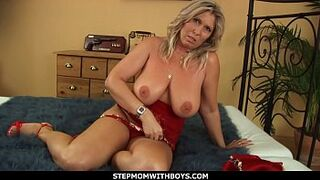 StepmomWithBoys - Big Tits And Horny Grown-Up Gets Rock Humped By Stepson