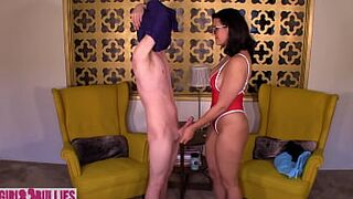 Petite Cock CFNM and Femdom Creaming The Cock