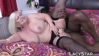 Grandma dicked before racially mixed old vs daughter cum on face