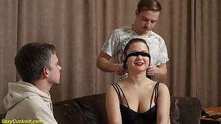 her first real blindfold cuckold sexual intercourse