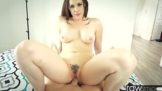 RawAttack - Chanel Preston is punished by a monster dick, interview, large big boobs and large ass