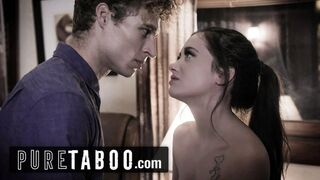 PURE TABOO Possessive Stepbro Punishes Sister for IR BUST A LOAD