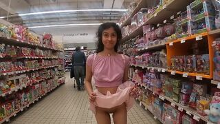 Upskirt no Panties at the Mall, Outside Sexual Intercourse, Sperm Makeover and Cumwalk!!!