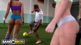 BANGBROS - Epic Soccer Game with PAWG Babes Jada Stevens & Remy LaCroix