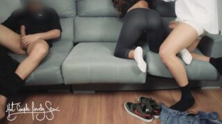 Boyfriend Watches his Girlfriend Humped by best Friend and Licked his Sperm