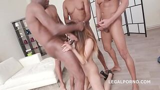 Asian gangbanged by blackcock see pt2 on AsianpornisTheNewLSD.com