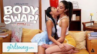 GIRLSWAY Beauty Adolescent Emily Willis tries something new with her Friend
