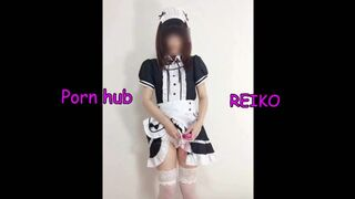 Handjob Ordered by the Master in Maid Cosplay