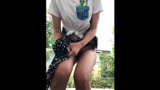 COMPILATION Adolescent Peeing Outdoors, because she Couldn't Hold it