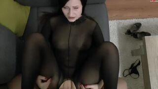 Footjob and Screw in Bodystocking