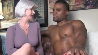 Lustful and Naughty Matron Lying on Husband with her first HUGE DARK COCK on Vacation