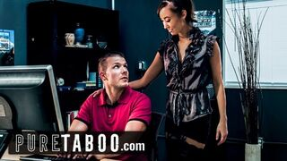 PURE TABOO Gay Woman Tutor Christy Intimacy Asks Boy Student to get her Pregnant