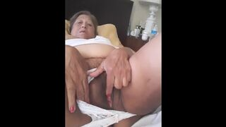 Mommy Latina Wife Masturbating with a Sex Toy because I need a Boy to Bang me