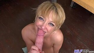 MILFTRIP Large Tit Mom Can Sure Suck A Penis