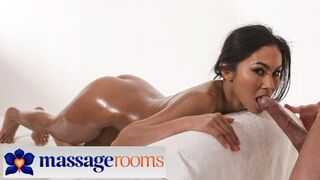 Massage Rooms Small Size Thai Babe Suzie Q Covered in Jizz after Babe Romantic Sex Act