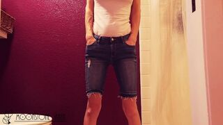 Wetting my Jean Shorts after Yard Work...before Jumping in the Shower