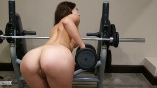 Nude in the Gym