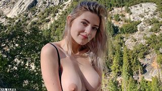 Hiking in Yosemite Ends with a Outdoors Sucking Dick by Lovely Girl - Eva Elfie