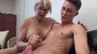 Divorced and Lonely Mature Mom mature Seduces and Fucks 18Yo Male
