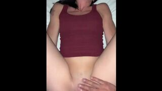 Stretched Vagina White Teen & Large Rican Man Meat