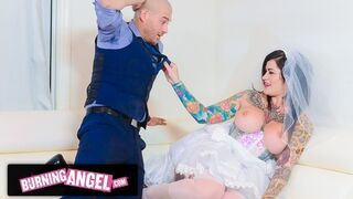 BurningAngel Lying Bride Gets Destroyed Strong by the best Fella during her Wedding