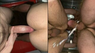 23cm Monster Dick Gets Full Bum Filled with Seed! the Jizz Flows out of the Booty.