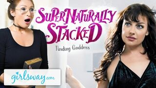 Girlsway Daughter Red-Haired Honey Fingers the Intercourse Goddess Rock for her Benediction