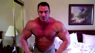 Large Max in a Hotel Room being Worshipped by an Older Guy