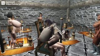 Skyrim - the Biggest Titties in Skyrim -hanging out with my Advanced Milk Maids