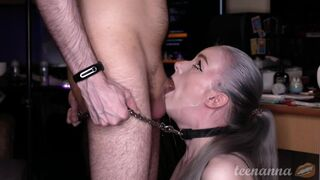 He Tied me to his Man Meat and Humped me in the Throat!