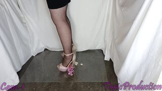 Girlfriend Crushes Candy English Confect in Shell Pink Heels