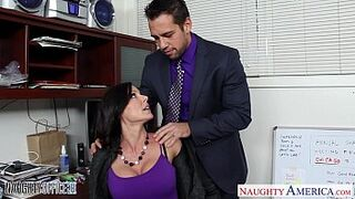 Superb Body dark-haired Kendra Lust fucking in the office