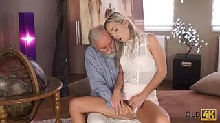 OLD4K. Amazing lassie Shanie Ryan s. with educator after graduating college