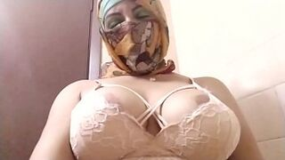 Real Arab In Niqab Hijab Mature Fake Cock Pinky Peach Squirting, TitJob And Then Masturbating Her Muslim Vagina To Extreme Squirting Orgasm